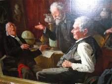 Louis Henry Charles Moeller Oil Painting The Good Laugh