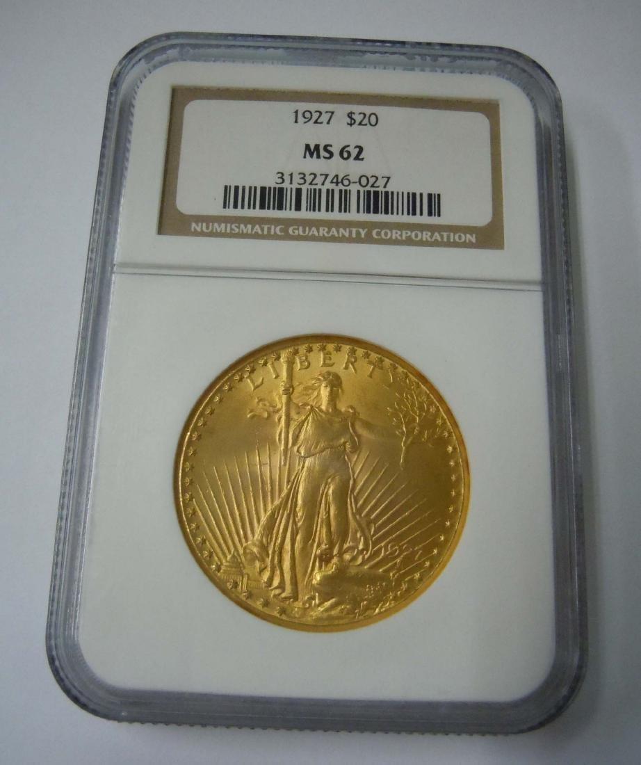 1927 Twenty 20 Dollar Gold Saint Gaudens Double Eagle