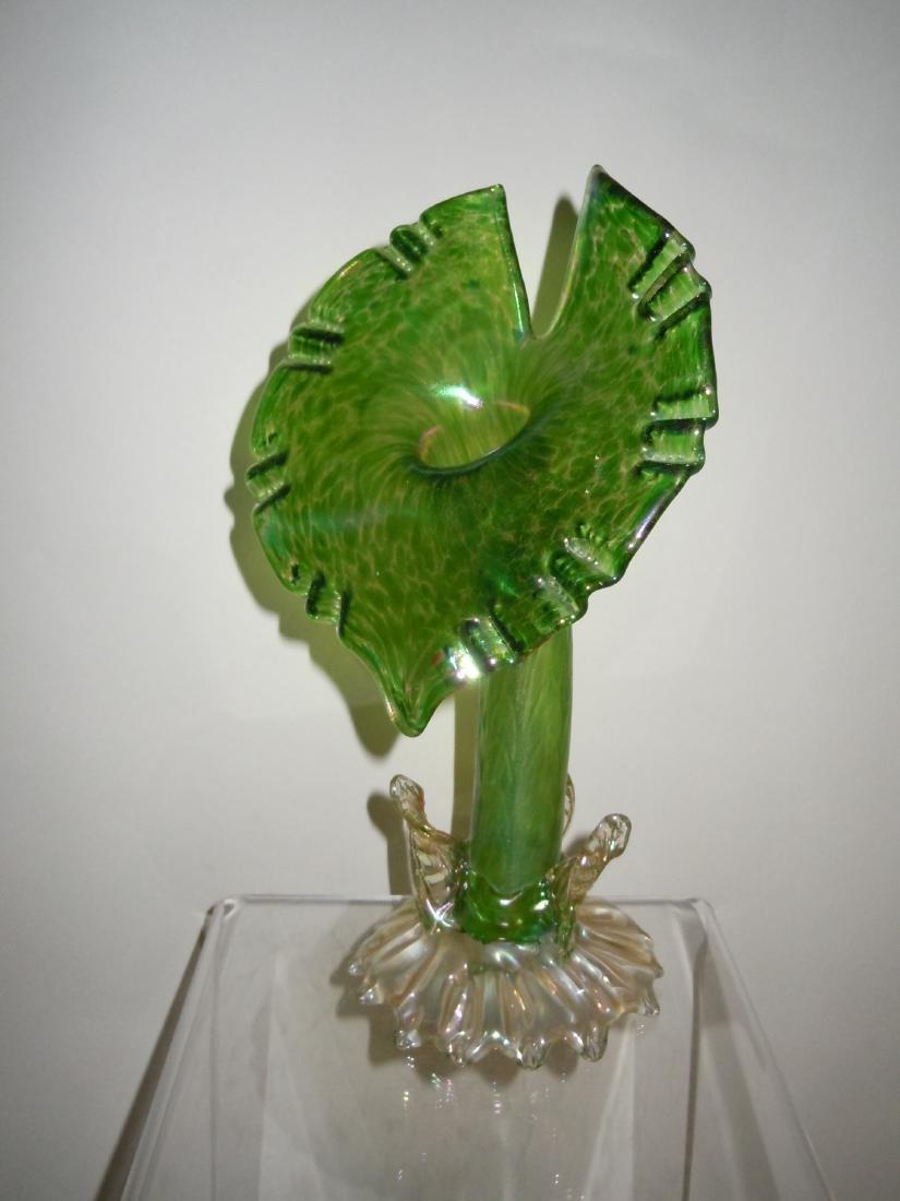 Art Nouveau Loetz Austria Iridescent Green