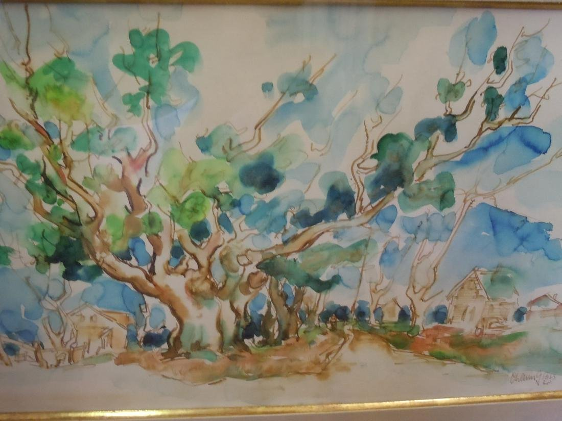 Chaim Gross Provincetown Mass. Village with Trees