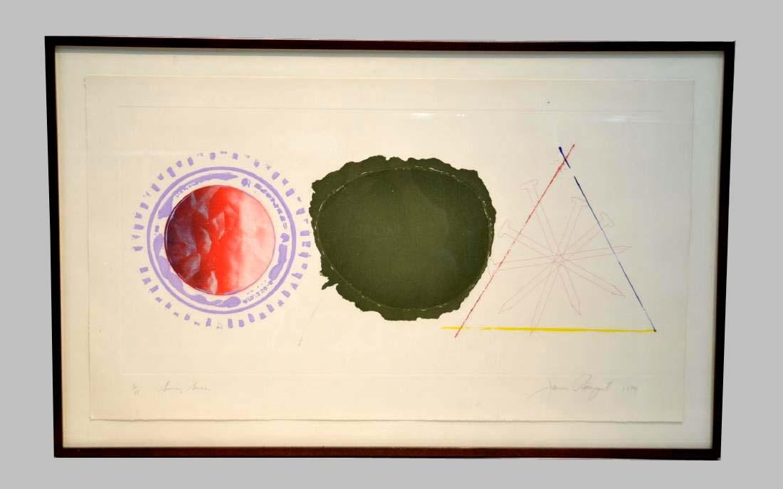 James Rosenquist Swing Screw 1979 Color Etching and