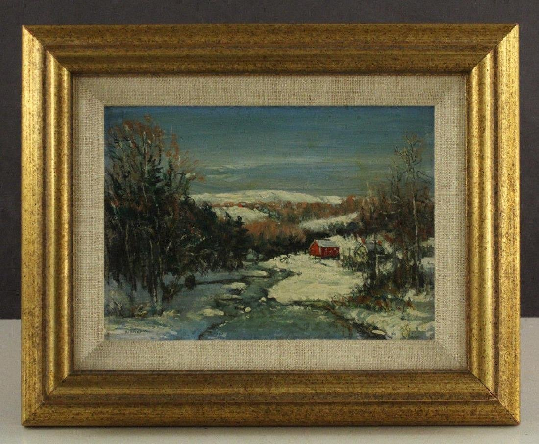 Walter Emerson Baum Oil Painting Winter Landscape with