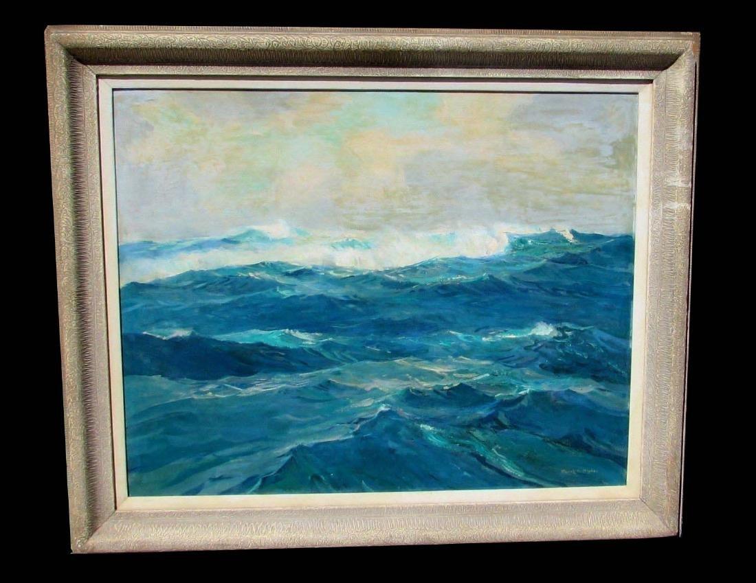 Frank Harmon Myers Seascape Oil Painting Open Sea