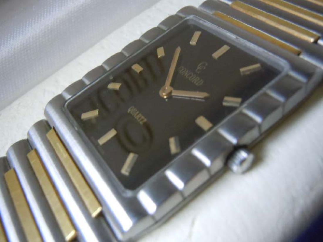 Mens Concord 18kt Gold Stainless Dress Watch
