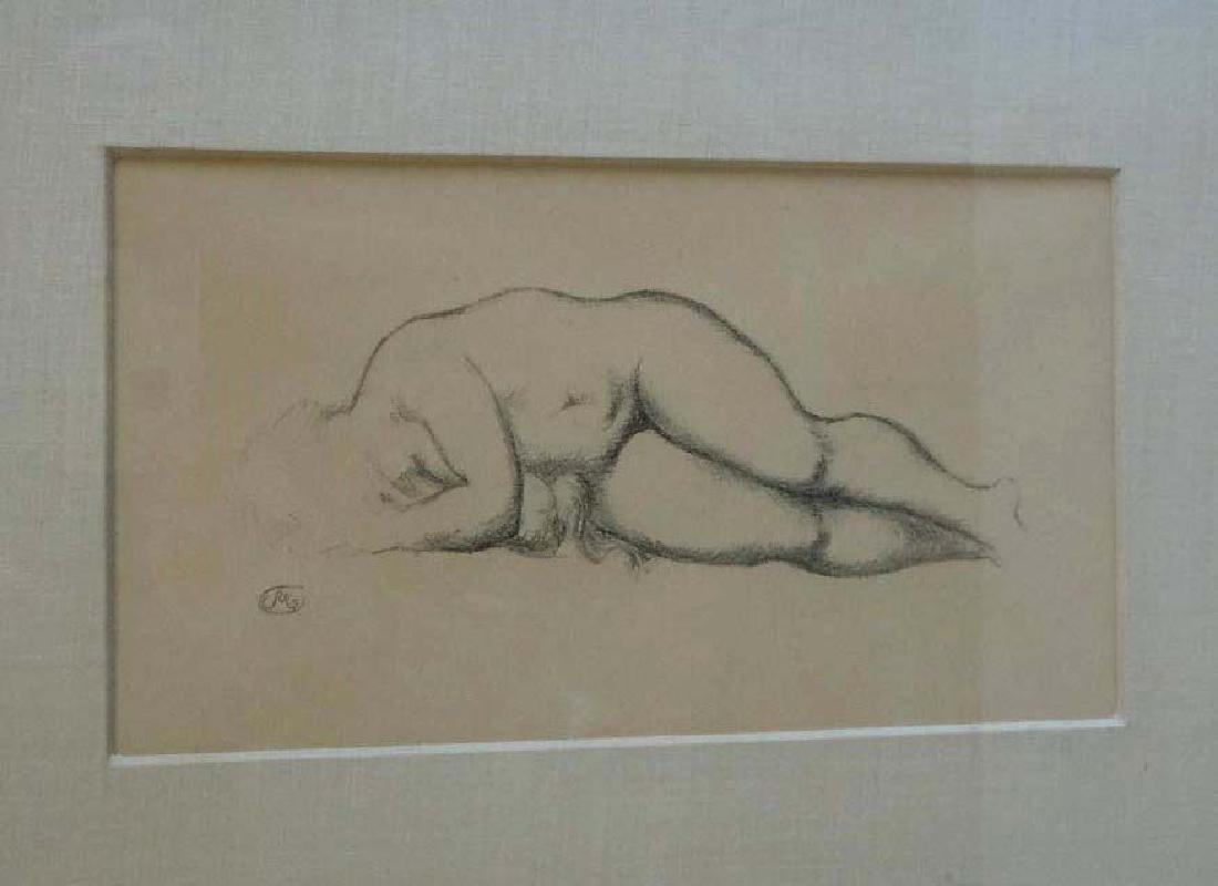 Aristide Maillol Reclining Female Nude Lithograph