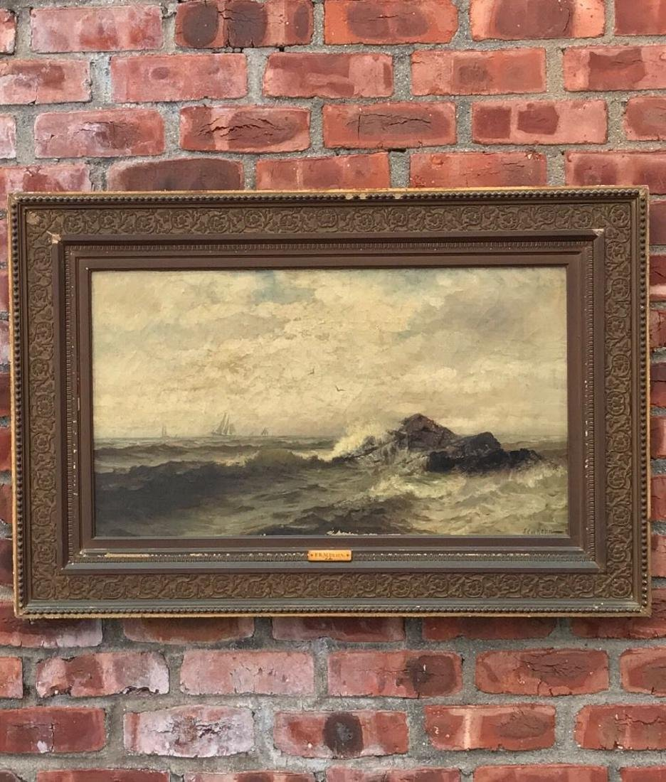 Frank Knox Morton Rehn Oil Painting Sailing in Rough