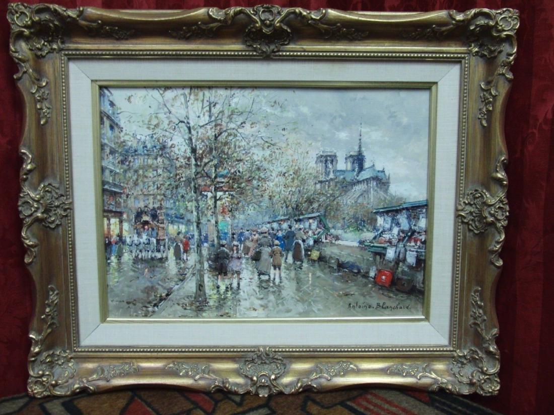 Antoine Blanchard Oil Painting Les Bouquinistes et