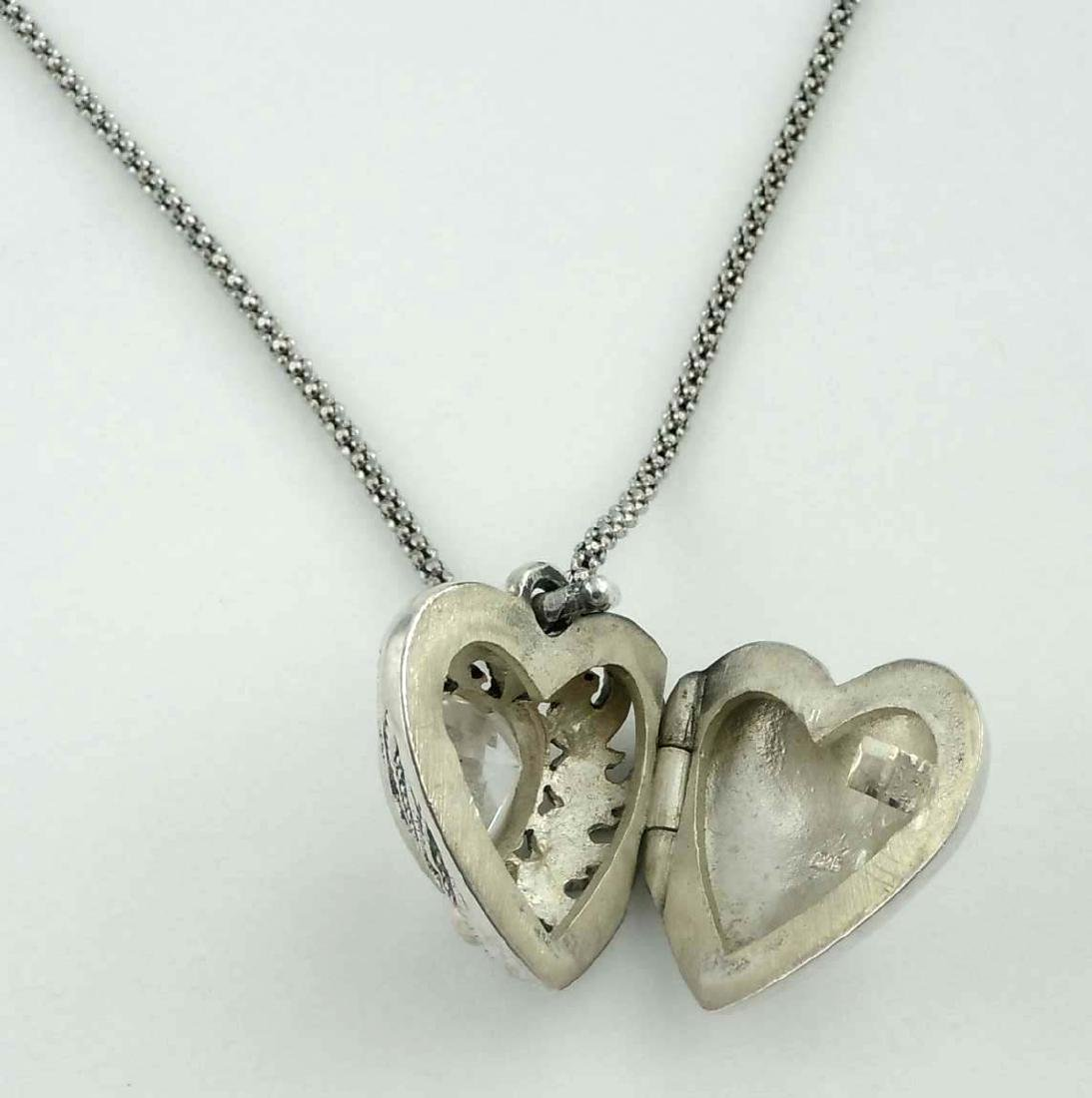 Vintage Open Work Marcasite Sterling Silver Heart