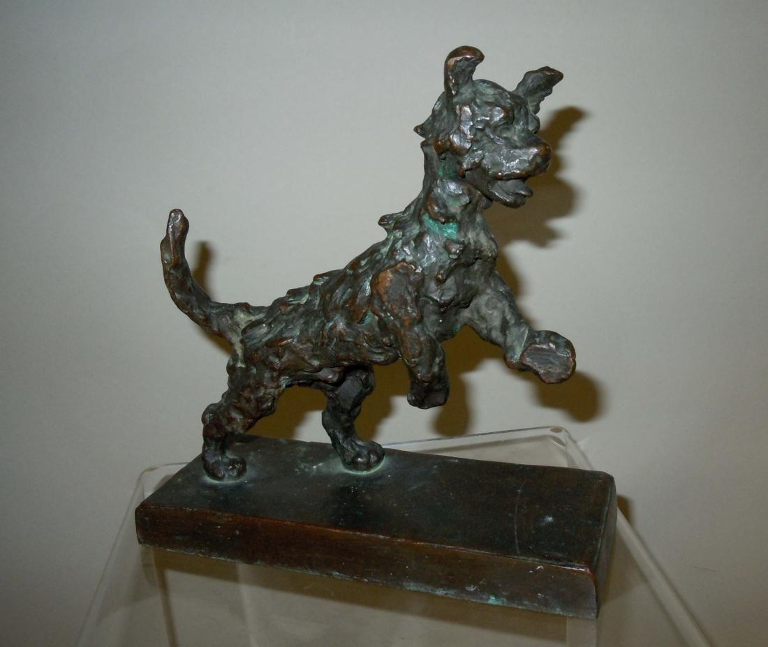 Edith Barretto Parsons Terrier Puppy Dog Bronze