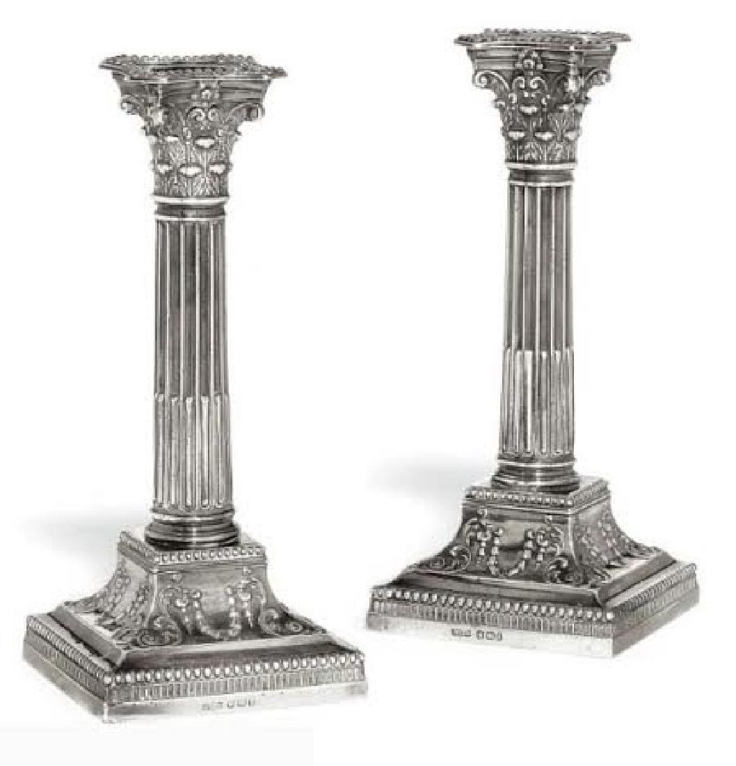 James Dixon and Sons Silver Candlesticks Sheffield