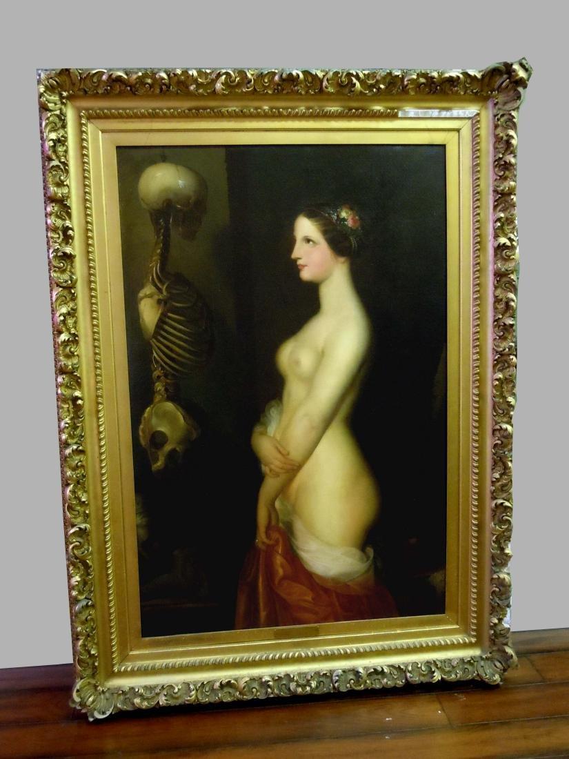 19th Century Emil Preuss 1894 German Oil Painting La