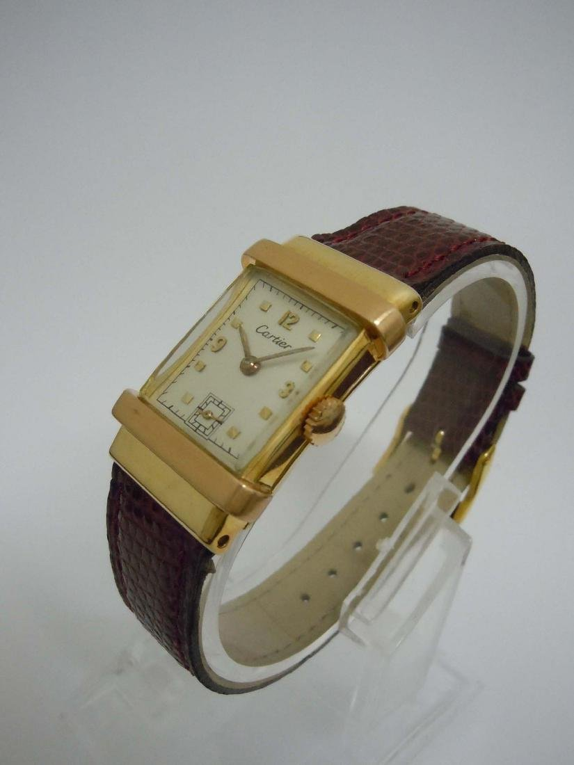 Vintage 40s Men's Cartier 14k Yellow and Rose Gold Top