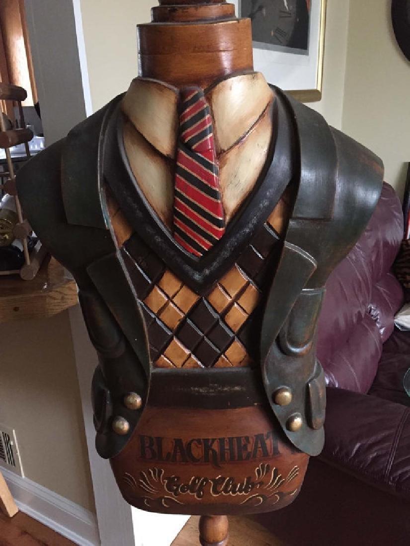 Blackheat Golf Club Dress Form Hat Rack Stand, circa