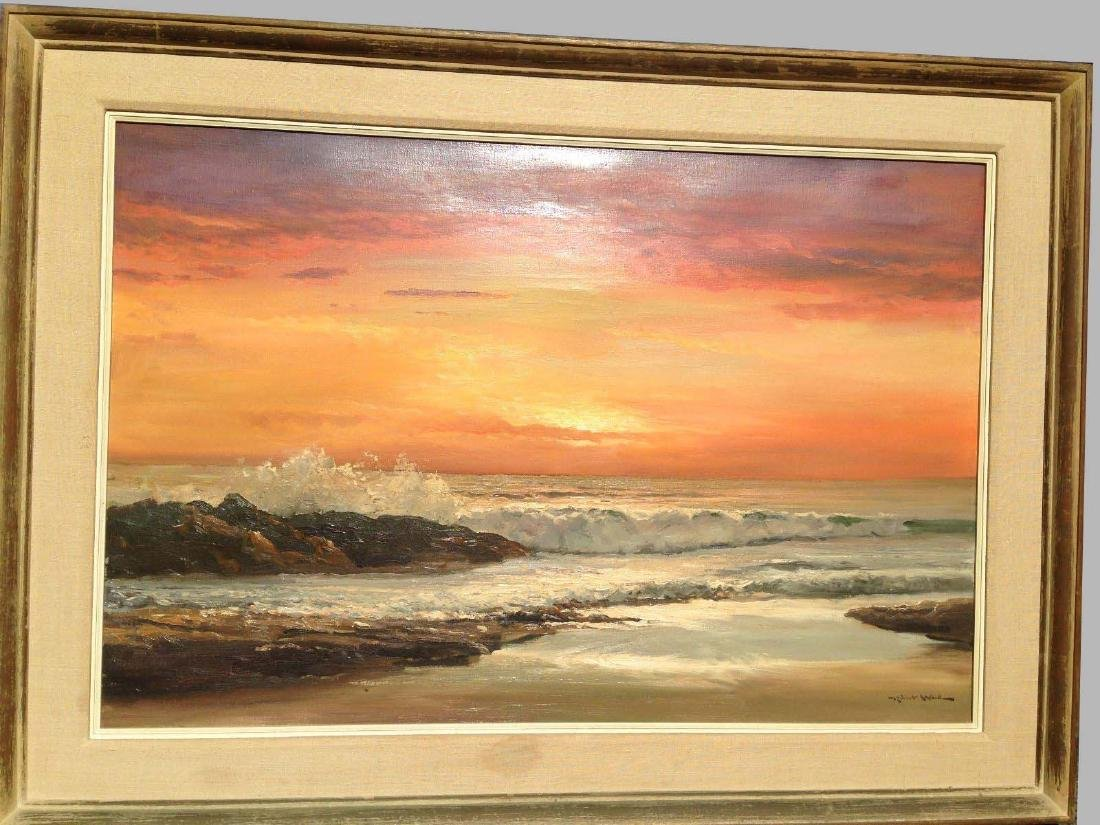 Robert William Wood Oil Painting Golden Evening Seaside