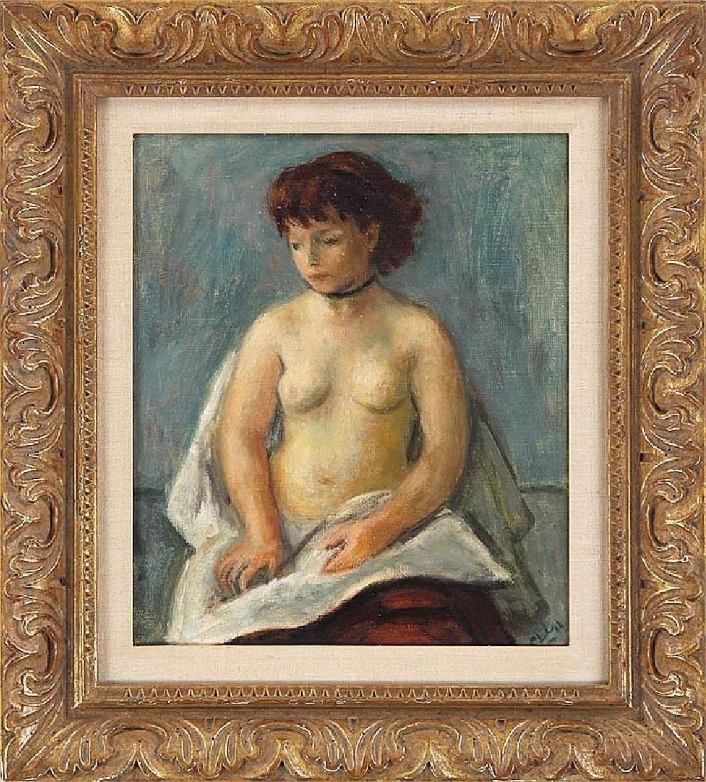 ROBERT PHILIPP (American, 1895-1981), seated female