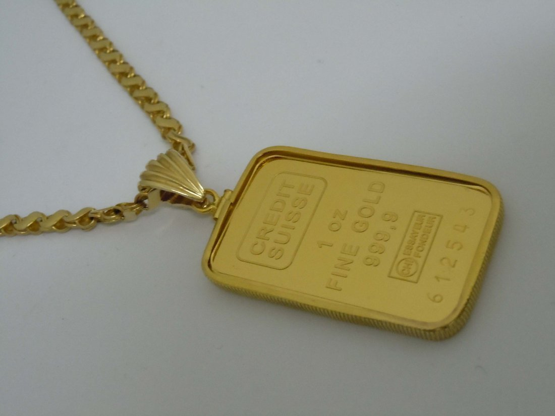 1 Toy Ounce Credit Suisse .999 Pure Gold Bullion Bar
