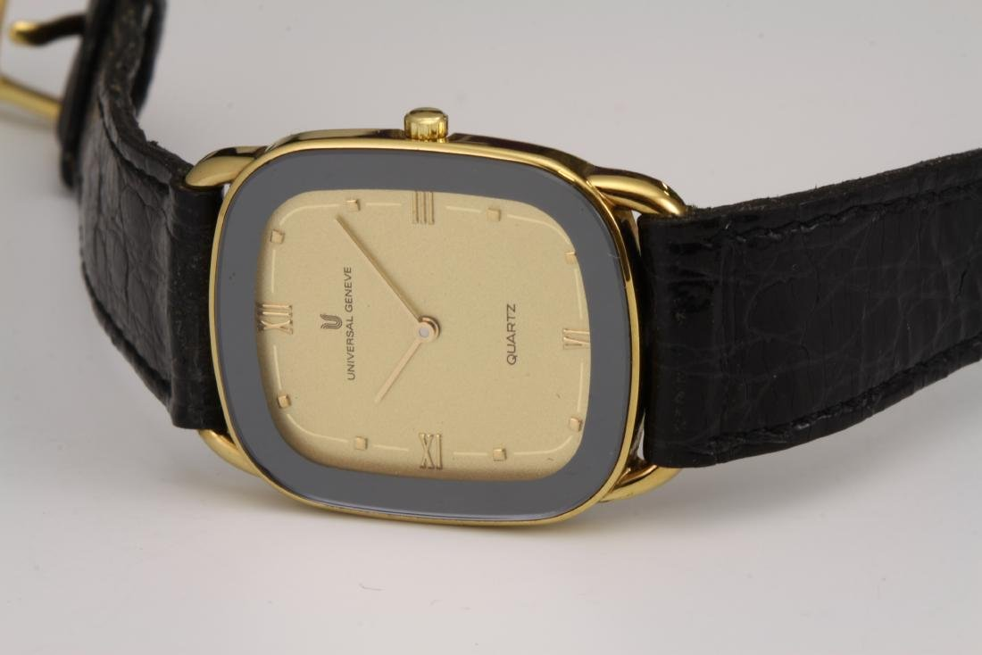 UNIVERSAL GENEVE Gold Plated Quartz Watch Shadow Ultra