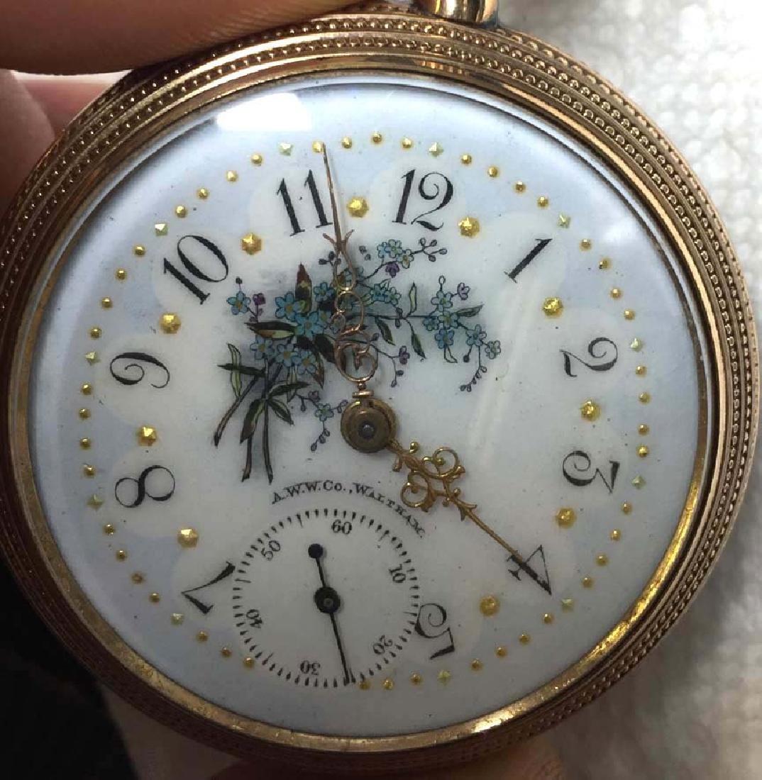 Victorian 1891 Gold Filled Elgin Open Face Pocket Watch