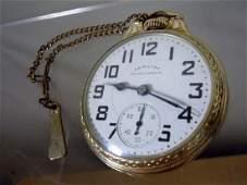 Hamilton Railway Special 992B 21J Pocket Watch 10k GF