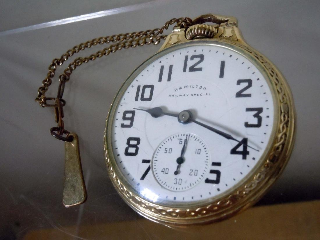 Hamilton Railway Special 992B 21J Pocket Watch 10k GF