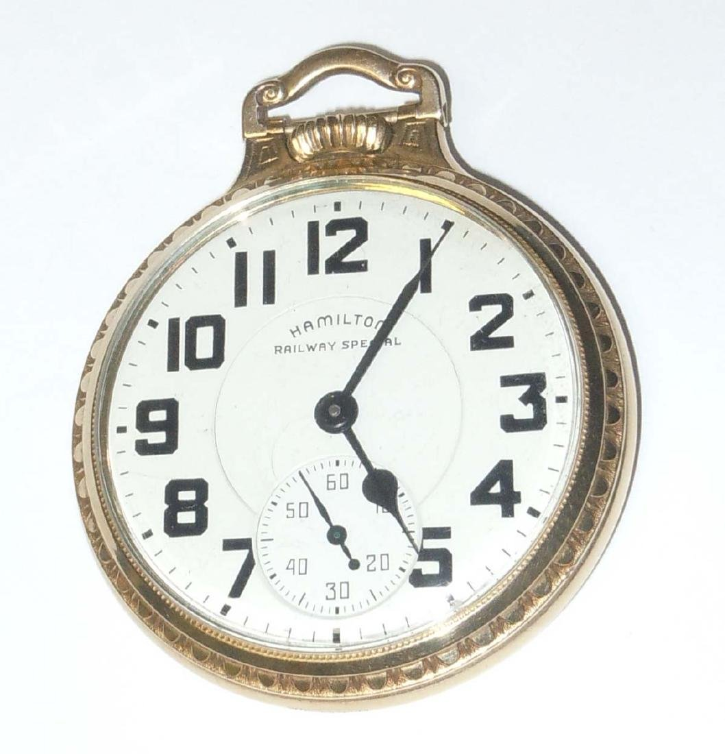 10K Gold Filled Hamilton 992B Railway Special Pocket