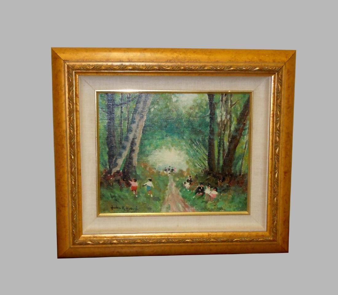 Jules Rene Herve Oil Painting Children Playing In The