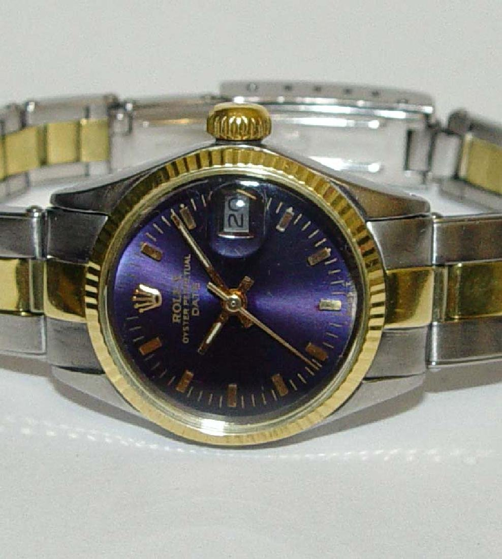 Rolex 6517 Oyster Date Dress Watch Lady's 14kt gold