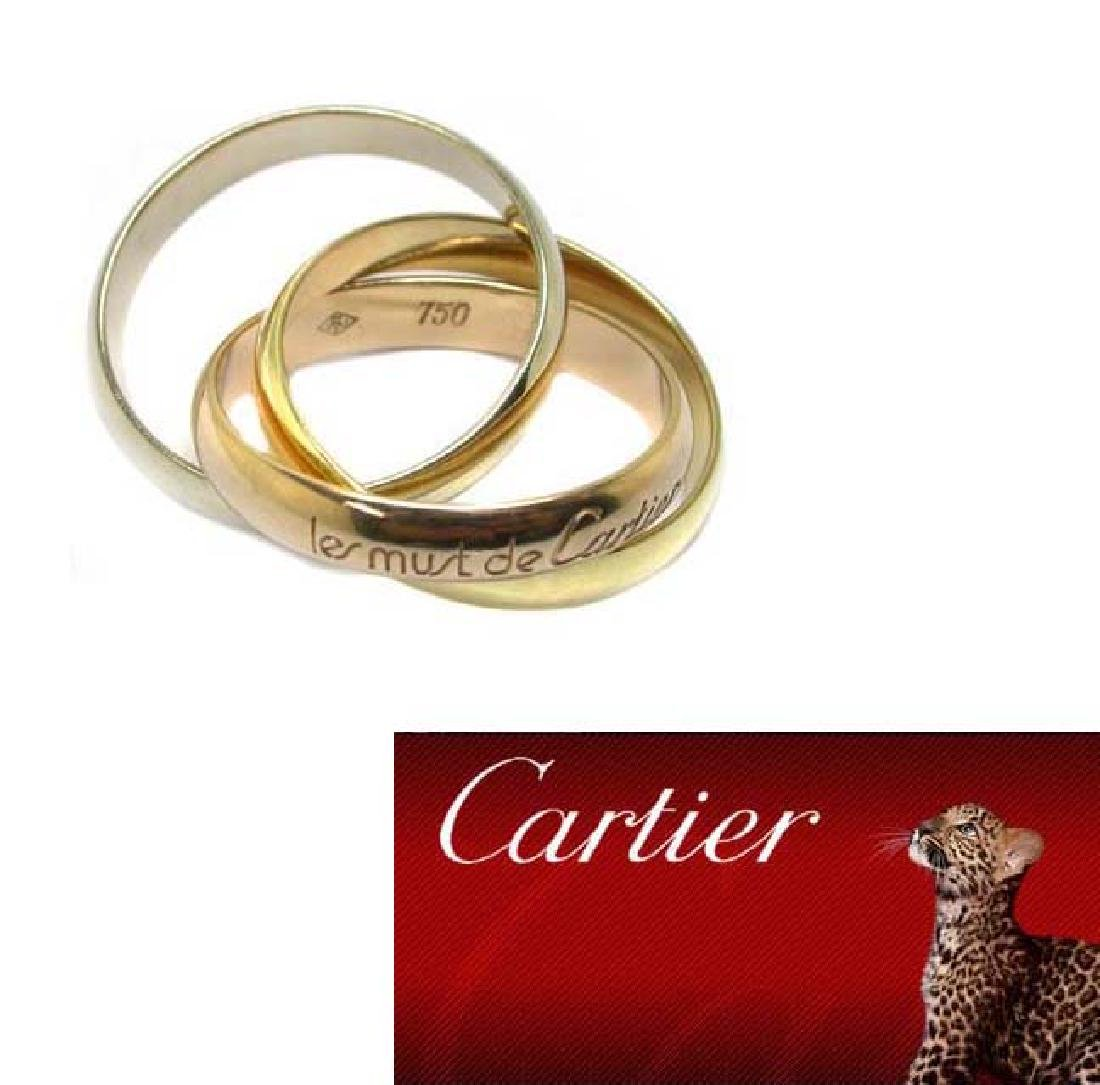 Authentic Cartier Le Must Trinity 18kt 750 Gold Ring