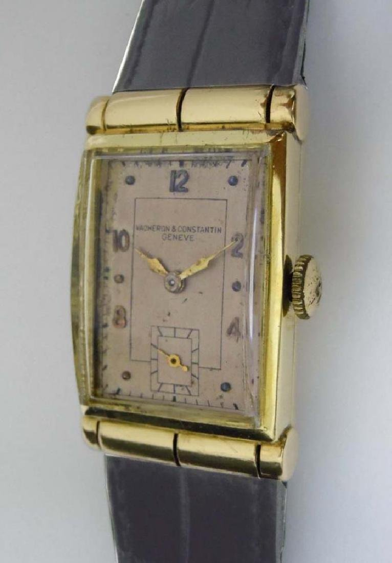 Men's 14kt Gold Vacheron Constantin Tank Dress Watch;