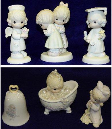 1: 6 Precious Moments Figurines Statue Sculptures