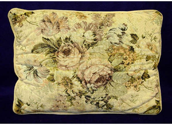 8: Plush Rose Embroidered Throw Pillow