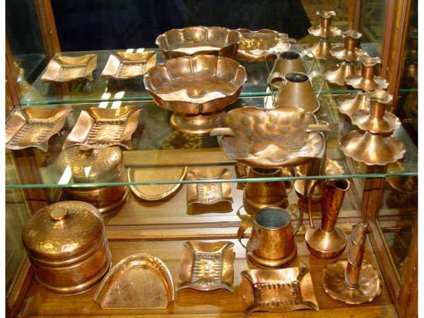 9: Assorted Lot of Gregorian Copper Ware