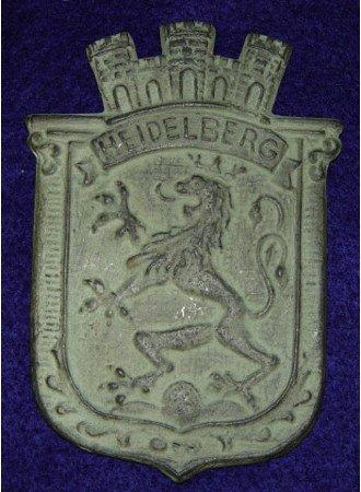 10: Heidelberg Castle Royal Lion Crest Standard Bronze