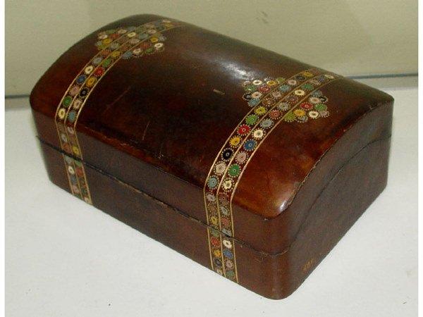 11: Vintage Embossed Leather Box Casket