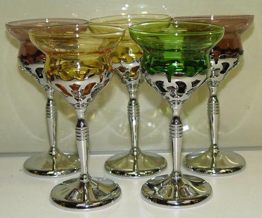 12: Assorted Color Martini Glass Ware