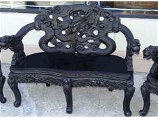 127 Flying Dragon Chinese Love Seat Bench Armchairs