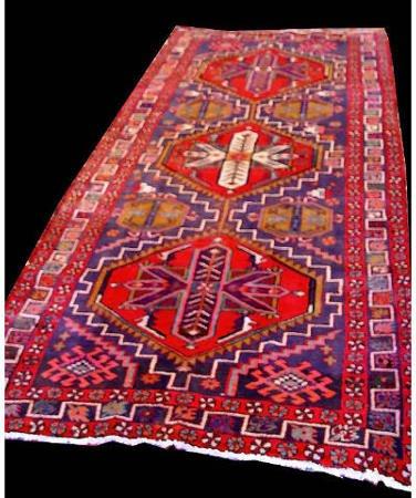1001: Heriz Runner Rug Carpet App 10 x 5