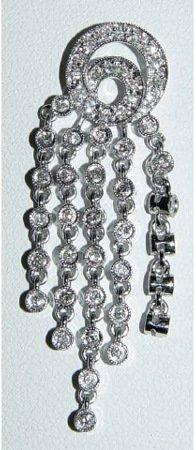 1010: 14kt Gold & Brilliant Diamond Dangle Pendant