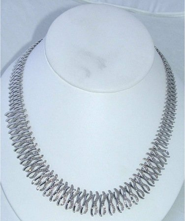 1020: 14kt Gold 2ct Diamond Necklace