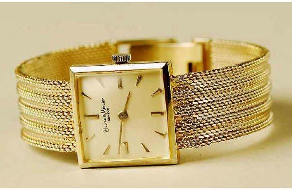 1024: 14kt Gold Baume Mercier Wristwatch