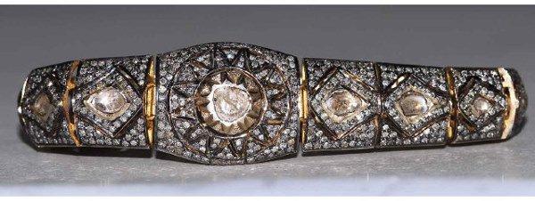 1237: 18kt Gold 7ct Diamond Georgian Style Bracelet