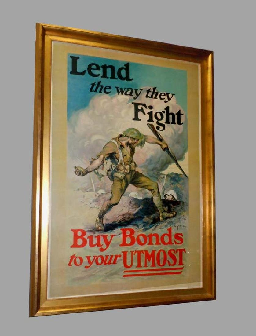 WWI POSTER EDMUND MARION ASHE LEND THE WAY BUY WAR
