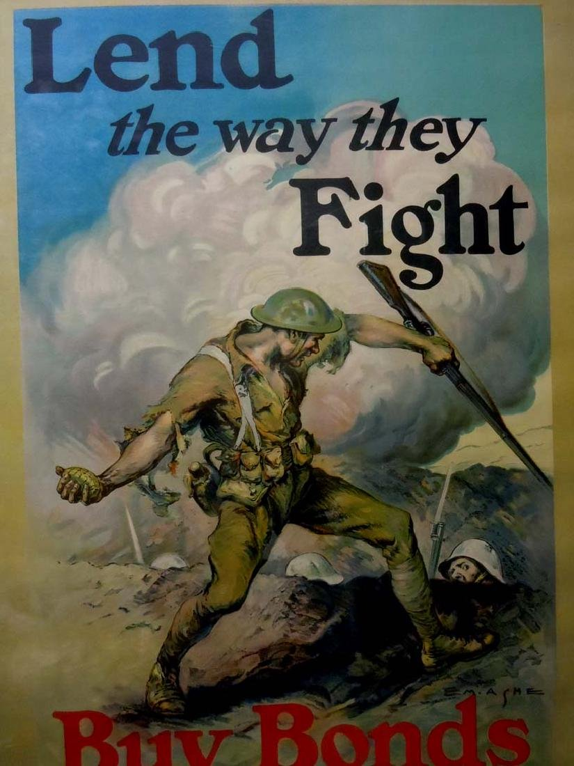 WWI POSTER EDMUND MARION ASHE LEND THE WAY BUY WAR - 2