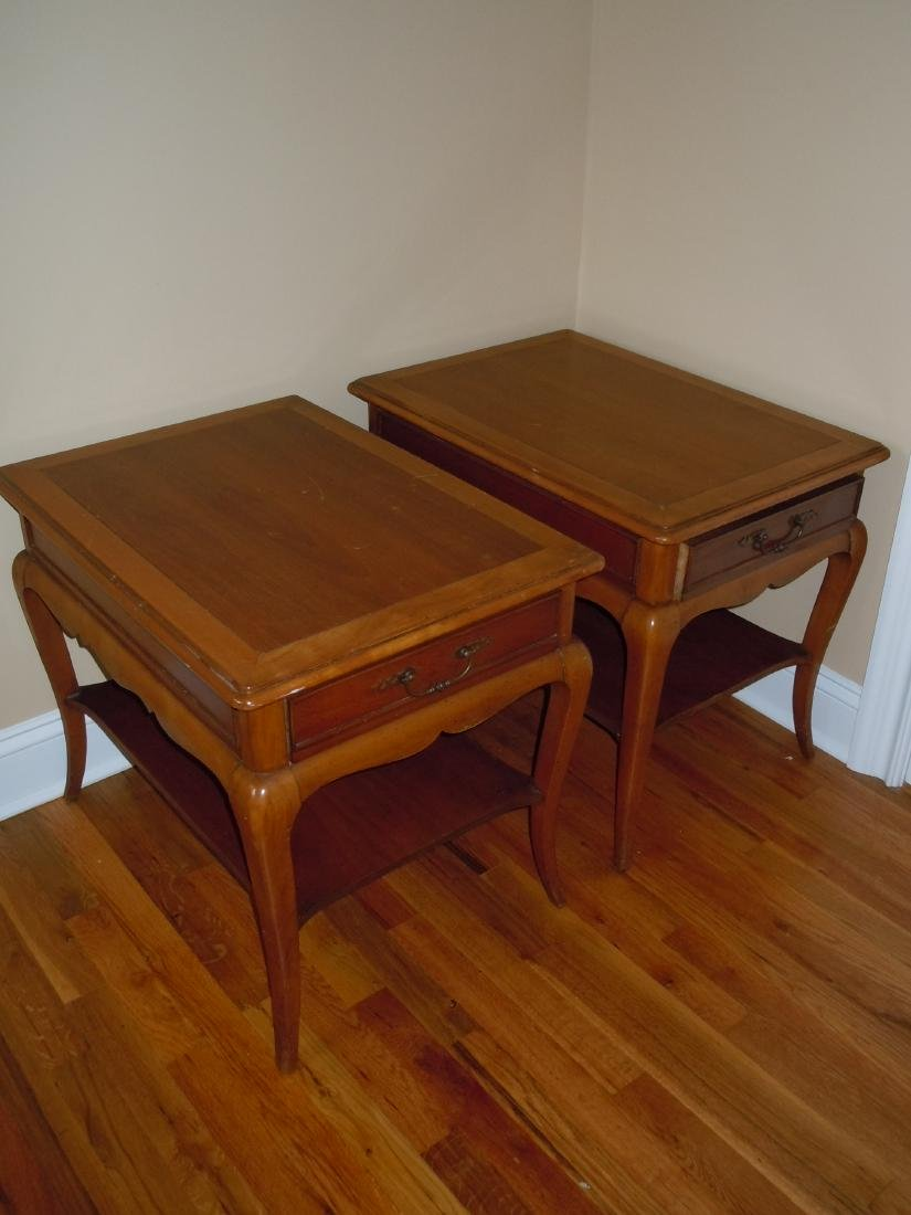 MID CENTURY DANISH MODERN HEKMAN END TABLES NIGHTSTANDS