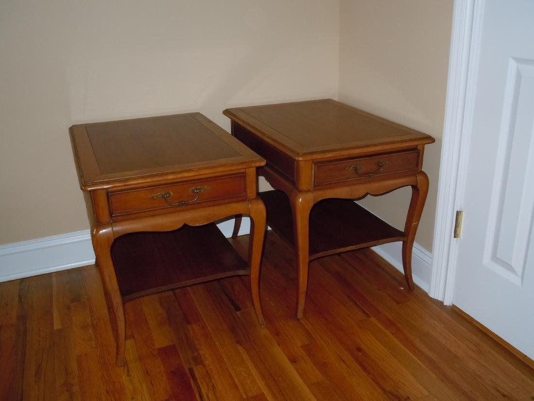 MID CENTURY DANISH MODERN HEKMAN END TABLES NIGHTSTANDS - 2