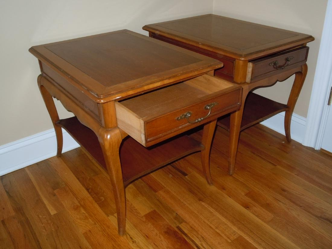 MID CENTURY DANISH MODERN HEKMAN END TABLES NIGHTSTANDS - 4