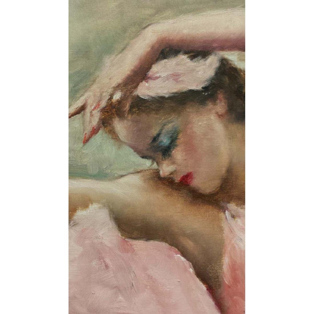 PAL FRIED YOUNG GIRL PINK BALLERINA GIRL OIL PAINTING - 4