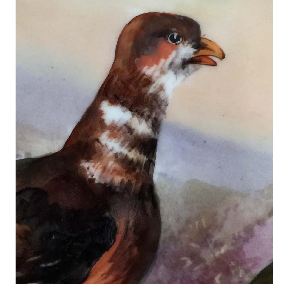 HAND PAINTED LRL LIMOGES FRANCE WILD PHEASANT CHARGER - 4