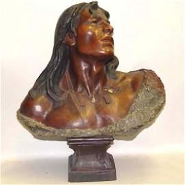 19c FRIEDRICH GOLDSCHEIDER AMERICAN INDIAN CERAMIC