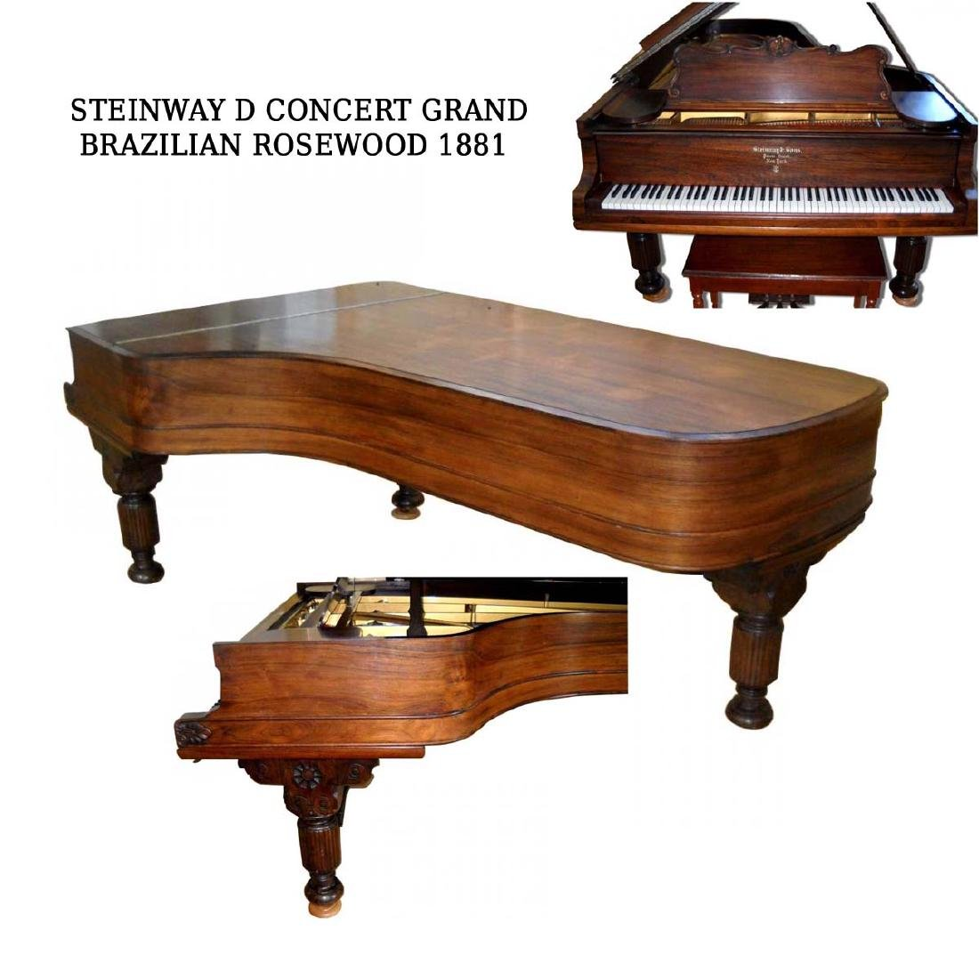 A stunning 1881 Steinway Model 'D' Concert Grand Piano